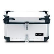 Maleta Top Case Kohl 60 Lts Plata Universal Para Moto