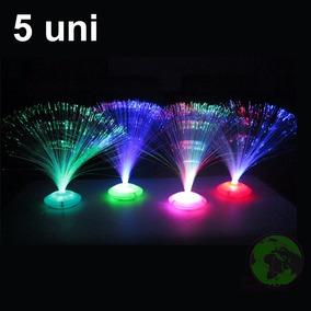 Abajur Luminaria 5uni Led De Fibra Otica 8 Fases Enfeite