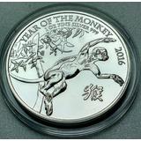 Moneda Plata Reino Unido Año Del Mono 2016 1 Oz