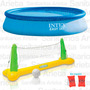 Pileta Inflable Intex 244x76 + Red Voley + Brazalete Cs5374