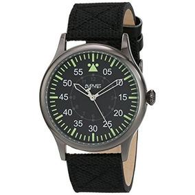 Reloj De Agosto Steiner Hombres De Negro As8125bk Suiza Cu