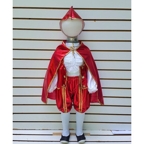 Disfraz De Principe Rey Primavera Rojo Disfraz Primavera
