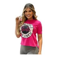 T-shirt Barbie Estampada Letreiro Planet Girls