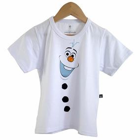 Camiseta Infantil Olaf Frozen Boneco De Neve Oferta