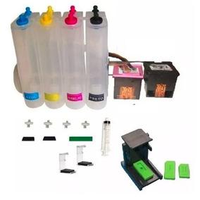 Bulk Ink Com 2 Cartuchos Hp 122 Black Color + 4 Litros Tinta