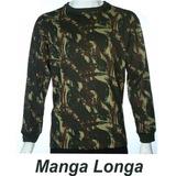 Camisa Camuflada Malha Fria Pv Militar Manga Comprida