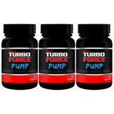 Super Turbo Force Pump 3 Potes (180 Cáps) Original! Massa!