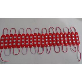 Módulo 7020 Smd 3-led Ip65 P.agua 12v Injetado Vermelho Puro