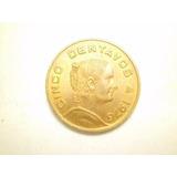 Moneda 5 Centavos Josefa Ortiz Fecha 1976 Bronce