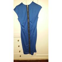 Vestido Azul Importado Usa Cierre Atras Entallado Sexy Mediu