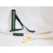Kit Arco + 3 Flechas Madera         Juguete Tiro Blanco Baum
