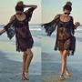 Blusa Vestido Boho Saída De Praia Pronta Entrega