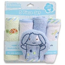 Little Mimos Set De 5 Toallitas Washcloths De Limpieza Bebe