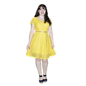 Vestido Evangélico Em Renda Evasê Roupas Femininas Sd 071