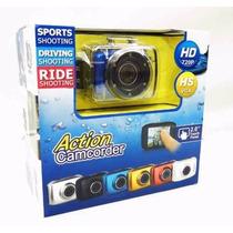 Camera Filmadora Digital Hd720p Action Camcorder Prova Dágua
