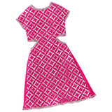 Roupa Barbie Fab Vestido Rosa Prata Cmr78 - Mattel