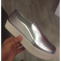 Vans Slip On Zapato Plataformas Deportivo Mujer Moda Calzado