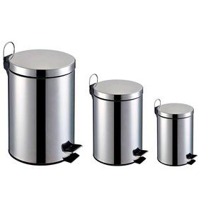 Lixeira Inox Kit 3 Peças De 3l ,5l E 12l - Home&garden