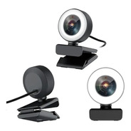 Webcam Camara Web Wesdar Full Hd 1080p Aro Luz Led Regulable