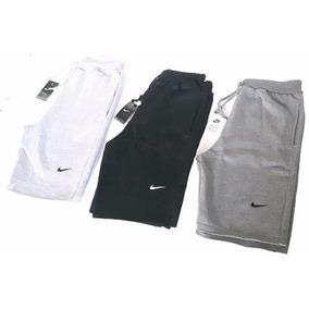 Kit 3 Bermuda Moleton Nike Shorts Nike Academia (1)