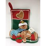 2 Botas Decorativas Navidad Galletas Jengibre Home Navideña
