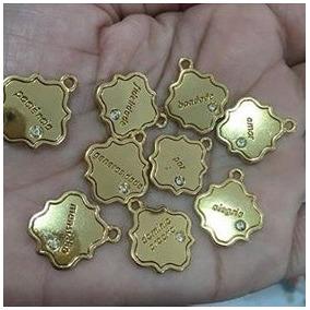 Kit Berloques Pandora Medalhas Desejos Folheados A Ouro 18k