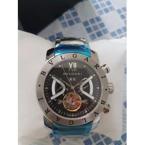 a17745508df Bugari Iron Man Misto Fundo Branco Lindo De Luxo Bvlgari - Relógio ...