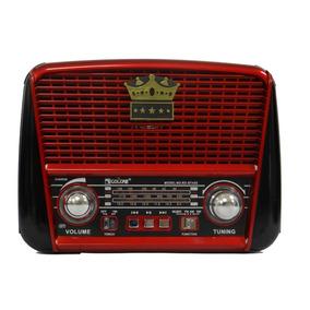 Radio Portatil Am Fm Bluetooth Usb E Cartão Retrô Vintage