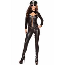 Disfraz Policia Mujer Importado Catsuit Disfraces Sexy