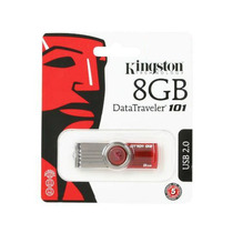 Pen Drive Kingston 8gb Data Traveler 101 Plastico Verm Dt101