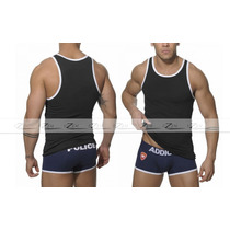 Camiseta Masculina Tank Cavada Regata Nadador Camisas Blusas