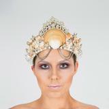 Coroa De Conchas Rainha Do Mar - Acessório Para Fantasias