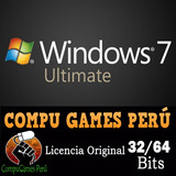 Licencia De Windows 7 Ultimate Original 32/64 Bits Retail