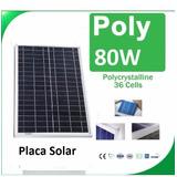 Painel Célula Placa Energia Solar Fotovoltaica 12v 80w Watts