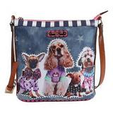 Bandolera Nicole Lee Sydney Dog Family Crossbody Bag