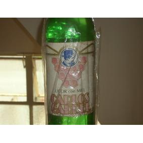 Antigua Botella Sin Abrir Licor De Miel Carlos Gardel Unica!