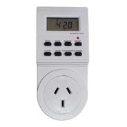 Timer Digital Temporizador Enchufe 220v Programable Electrico De 10a Reloj De Encendido Y Apagado