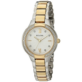 Bulova Womens Quartz Stainless Steel Casual Watch, Color:two