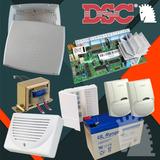 Alarma Dsc585 + Gab + Trafo + 2sensores + Bat + Siren + Tecl