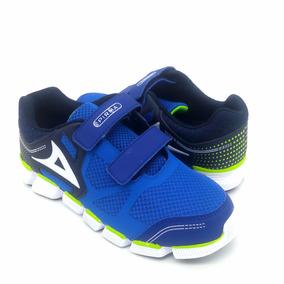 Pirma Tenis Running Para Niño 255 Sintetico Textil Azul Rey