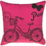 Almohadón + Relleno Estampado Bicicleta Vintage Rosa Paris