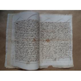 Antigo Documento Manuscrito Ano De 1517 * 7 Folhas *