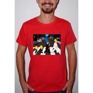 Baby Look Ou Camiseta Simpsons Beatles