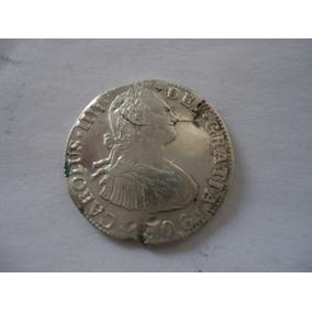 2 Reales Carlos Iiii,1806,troquel Roto,rara,muy Bonita