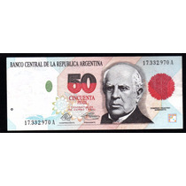 Billete Argentina 50 Pesos Convertibles Bottero 3062 Ex+