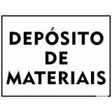 Placa Em Alumínio Depósito De Materiais Construção Civil