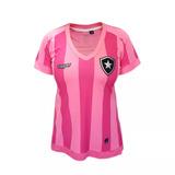 Camisa Botafogo Feminina Oficial Outubro Rosa Topper 2017/18