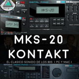 Mks 20 Dyno Piano Electrico 80´s Samples Kontakt Y Vst