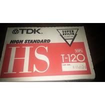 Cassette Vhs Virgen T-120 Marca Tdk Nuevos Caja X10 Japon