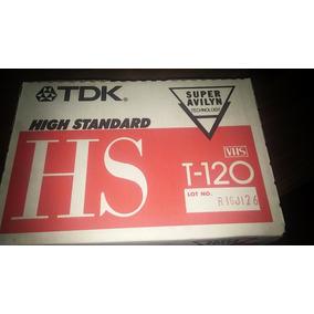 Cassette Vhs Virgen T-120 Marca Tdk Nuevos Caja X 10 Japon